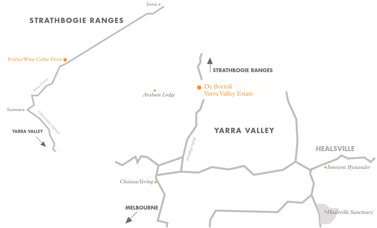 Wine Trail - Yarra Valley & Strathbogie Ranges